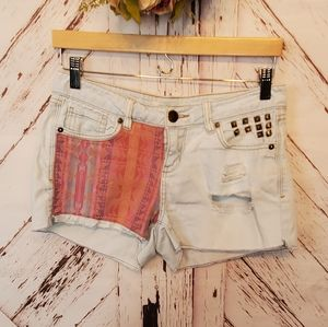 Life in Progress Distressed Jeans Shorts 26